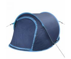 vidaXL Tente de camping pour 2 personnes Bleu-marine / bleu-clair