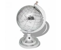 vidaXL Globe terrestre avec pied Aluminium Argenté 35 cm