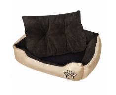 vidaXL Panier chaud pour chien avec coussin rembourré taille L