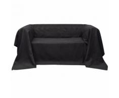vidaXL Housse Micro-suède de canapé Anthracite 210 x 280 cm