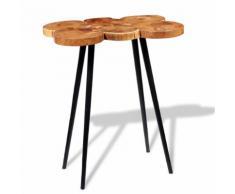 vidaXL Table de bar Bois d'acacia massif 90 x 60 110 cm