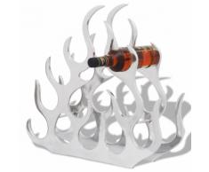 vidaXL Casier à bouteilles en aluminium pour 11 avec table Argent