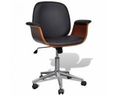 vidaXL Chaise pivotante avec accoudoir En cuir artificiel Réglable