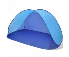 vidaXL Tente de plage pliante hydrofuge Bleu clair