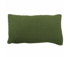 Overseas Oreiller tricoté 30 x 50 cm olive