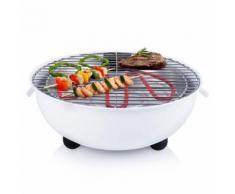 Tristar Barbecue électrique de table BQ-2882 1250 W 30 cm Blanc