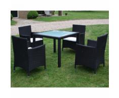 vidaXL ensemble meuble de jardin en poly rotin neuf pcs noir