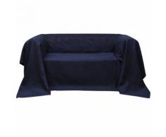vidaXL Housse Micro-suède de canapé Blue marine 140 x 210 cm
