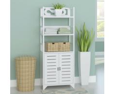vidaXL armoire de salle bain bois albuquerque blanc 46x24x117,5 cm