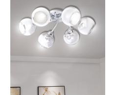 vidaXL Lampe de plafond avec verres soufflés pour 6 ampoules G9