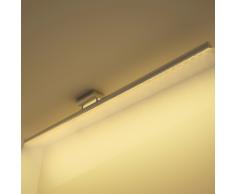 vidaXL Plafonnier rectiligne en acier inoxydable LED Blanc chaud 15 W