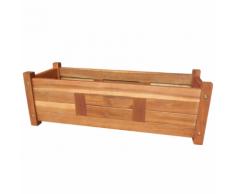 vidaXL Jardinière en bois d'acacia 76x27,6x25 cm