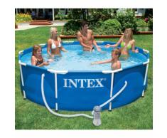 Intex Piscine avec châssis en métal 366 x 76 cm 28212GN