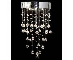 vidaXL Lustre plafonnier contemporain l3 feux 180 cristaux