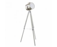 EGLO Lampe de plancher Upstreet nickel mat 150 cm