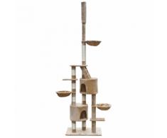 vidaXL Arbre à chat XL 230-260 cm en peluche beige
