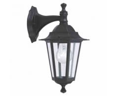 """EGLO - Lampe d'extérieur en applique """"Laterna"""" descendante noire"""