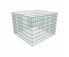 vidaXL Composteur de jardin carré en maille 100 x 70 cm