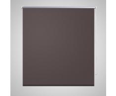 vidaXL Store enrouleur occultant 100 x 230 cm marron