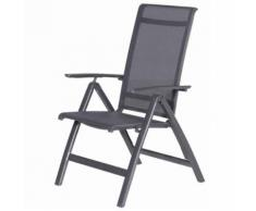 Garden Impressions Chaise de jardin inclinable Gala Gris 00300GT