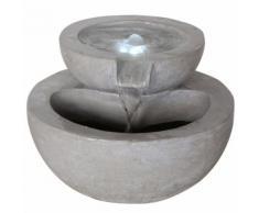 Velda Fontaine en pierre à 2 niveaux avec lumière LED 850906