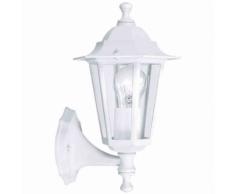 """EGLO - Lampe d'extérieur en applique """"Laterna"""" montante blanche"""