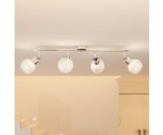 vidaXL Plafonnier avec quatre lampes, ampoules 40W G9 incluses