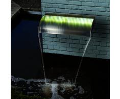 Ubbink Nevada Lame d'eau 90 cm En acier inoxydable Avec LED intégré