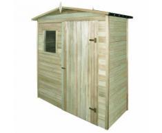 vidaXL Abri de stockage pour jardin Pin Imprégné 200 x 100 210 cm