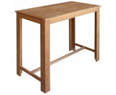 vidaXL Table de bar 120x60x105 cm Bois d'acacia massif