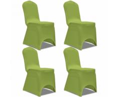 vidaXL Housse de chaise extensible 4 pcs vert
