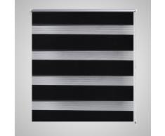 vidaXL Store enrouleur tamisant 90 x 150 cm noir
