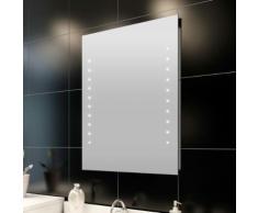 vidaXL Miroir de salle bain avec lumières LED 50 x 60 cm (L H)