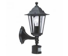 EGLO - Lampe d'extérieur en applique Laterna avec detecteur noire