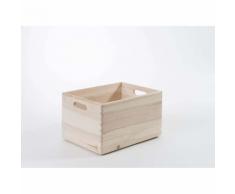 Compactor Casier « Box », en pin naturel, taille L