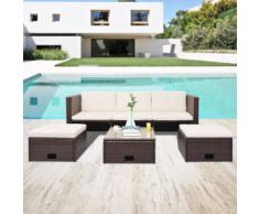 vidaXL Mobilier de jardin 12 pièces Rotin polyéthylène Marron