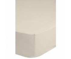 Emotion Drap-housse sans repassage 140 x 200 cm Écru 0220.01.44