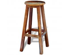 vidaXL Tabouret haut de bar en bois solide recyclé