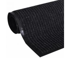 vidaXL Tapis d'entrée en PVC Noir 90 x 120 cm