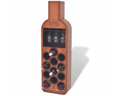 vidaXL Casier à 12 bouteilles en forme de bouteille Marron