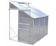 vidaXL Serre de jardin en profilé d'aluminium anodisé