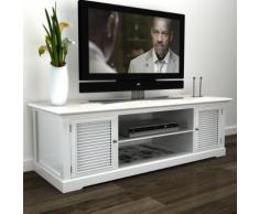 vidaXL Meuble TV blanc en bois