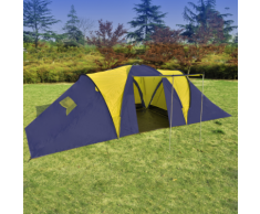 vidaXL Tente dôme familiale 9 places bleue et jaune