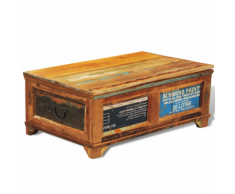 vidaXL Table basse antique vintage avec compartiment