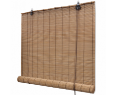 vidaXL Store enrouleur bambou brun 140 x 160 cm