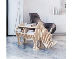 vidaXL Etagère en bois forme de rhinocéros