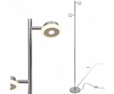 vidaXL Lampadaire réglable à 2 bras avec LED intégré x 5 W