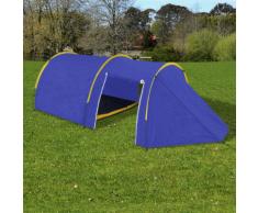 vidaXL Tente de camping imperméable 4 Personnes Bleu marin/jaune