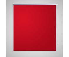 vidaXL Store enrouleur occultant rouge 40 x 100 cm