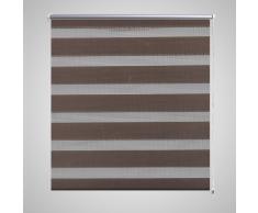 vidaXL Store enrouleur tamisant 70 x 120 cm marron